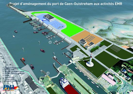 Projets sur le port de caen ouistreham pna ports for Feu vert cherbourg